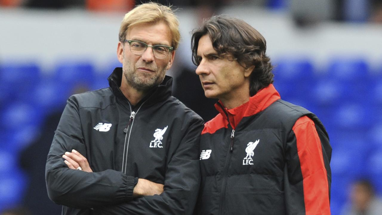 Liverpool assistant manager Zeljko Buvac (right) with Jurgen Klopp.