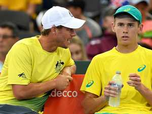 Hewitt 'thrilled to be part of Alex's first doubles win'