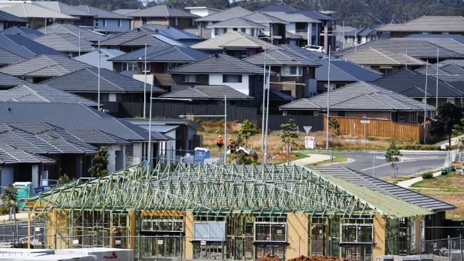 FILE PHOTO: Housing estate under construction.