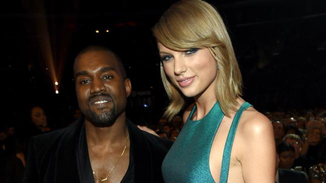 Kanye West and Taylor Swift have had a rocky relationship. Picture: Larry Busacca/Getty Images for NARAS