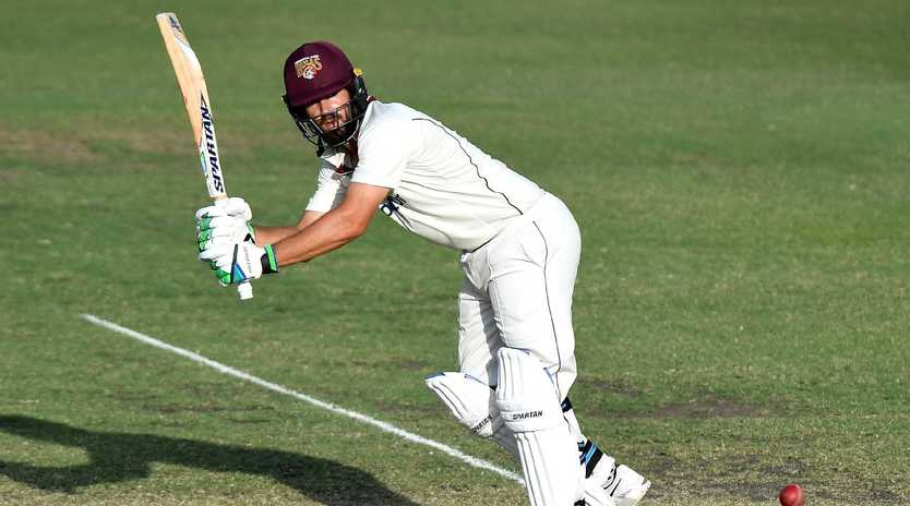 Joe Burns was out for a duck as Queensland collapsed.