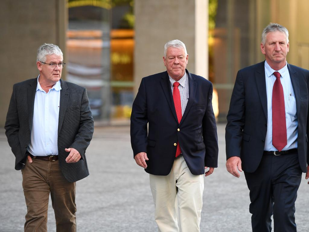 Brothers Neill, John and Denis Wagner are suing radio host Alan Jones, Radio 4BC Brisbane, journalist Nick Cater and Harbour Radio for defamation over comments made after the January 2011 Queensland floods. Picture: AAP Image/Dan Peled