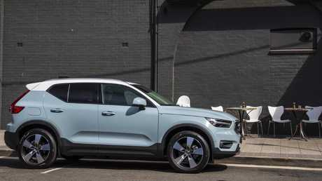 The Volvo XC40 can fit in the same size parking space as a Toyota Corolla hatch yet has the tall driving position of a Mazda CX-5. Picture: Supplied.