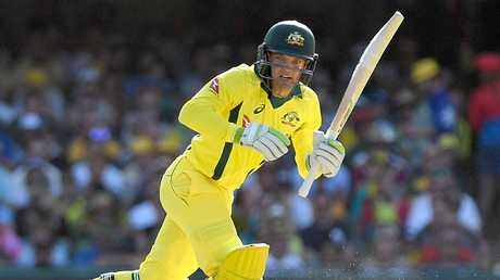 Alex Carey debuted for Australia last summer.