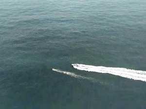 Boat overturned