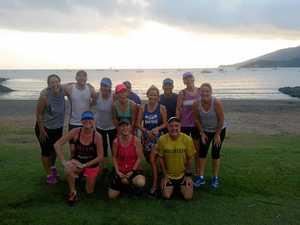 Runners waging an island assault
