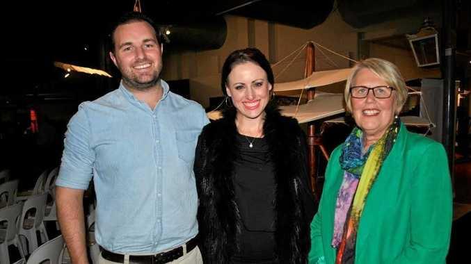 Ian Balsillie, Eala Dunn and Kaye Black (right) enjoy the evening.