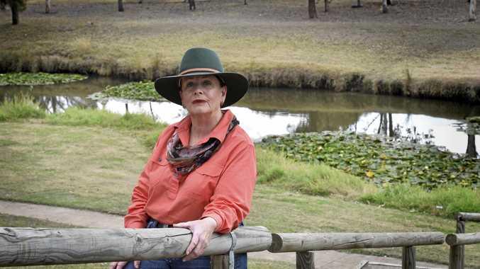 CONCERNED: Dianne Priddle at her Oakey property.