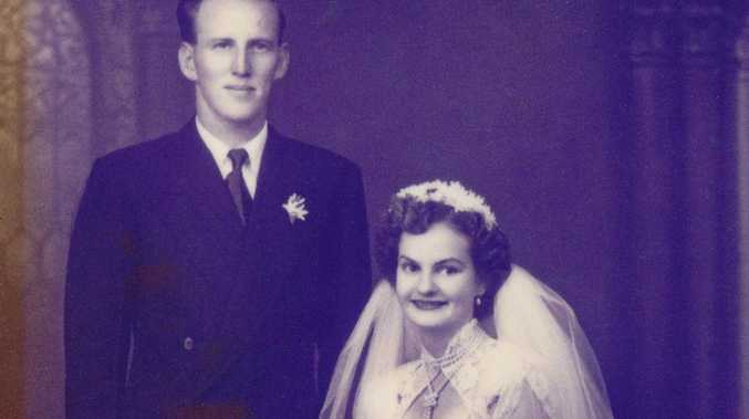 LONG HAUL: Bill Penfold and Mary Penfold on their weeding Day 66 years ago.