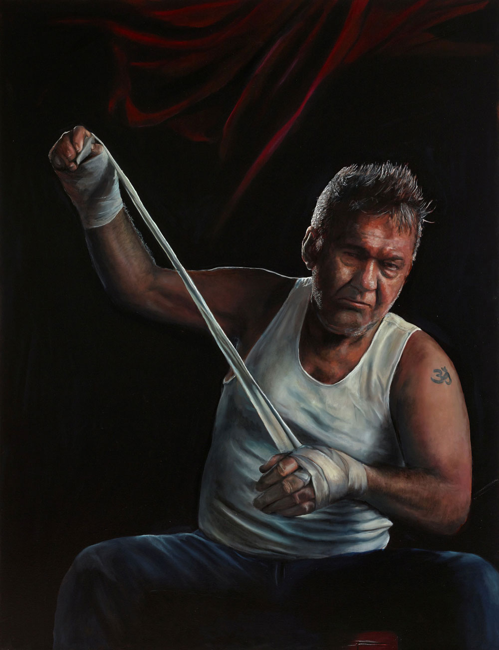 A portrait of Cold Chisel frontman Jimmy Barnes has taken out the Archibald Packing Room Prize.