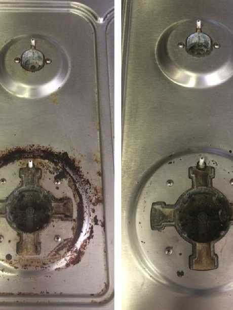 Before and after using the steamer. Picture: Facebook