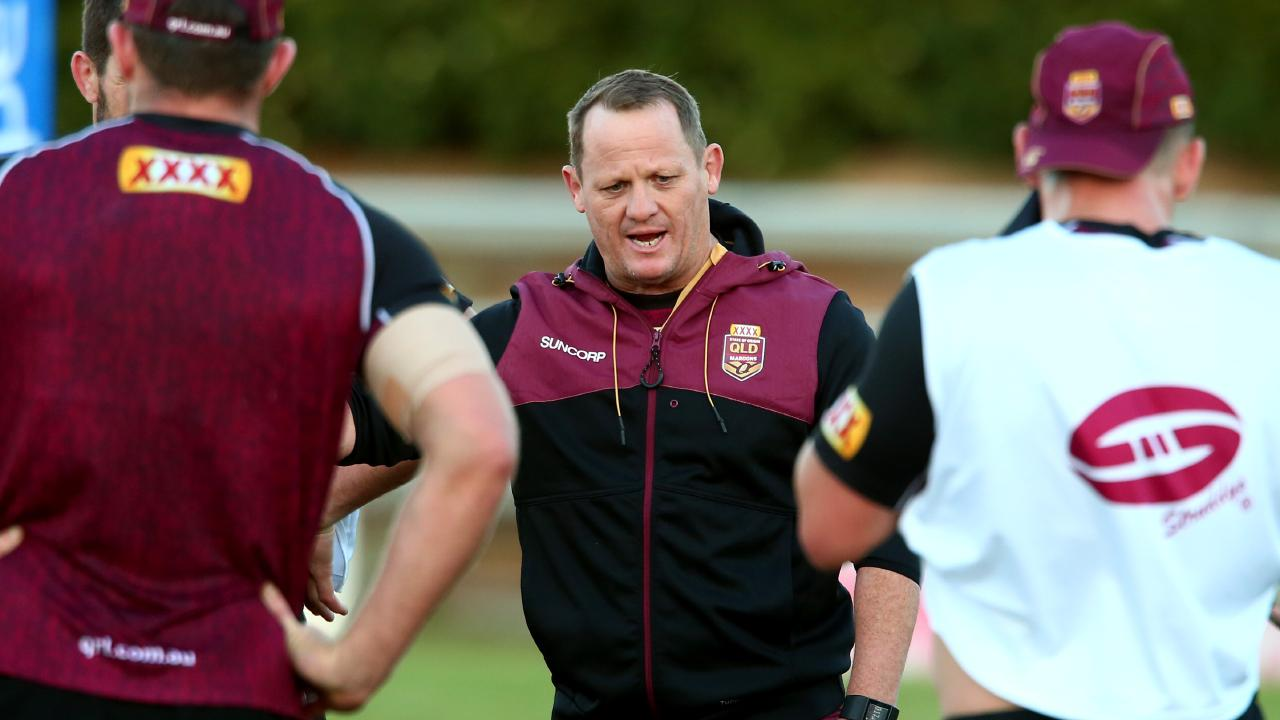 Queensland Origin coach Kevin Walters has a number of holes to fill in his forward pack for game one. Photo: David Clark