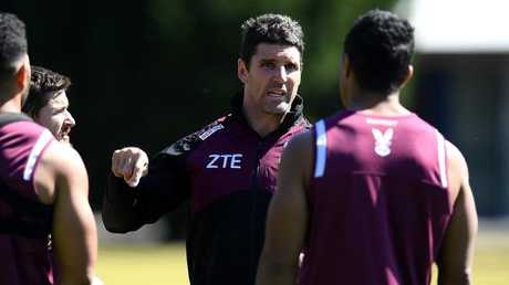 Manly Sea Eagles coach Trent Barrett may be in the running at Penrith. Picture: Dan Himbrechts/AAP
