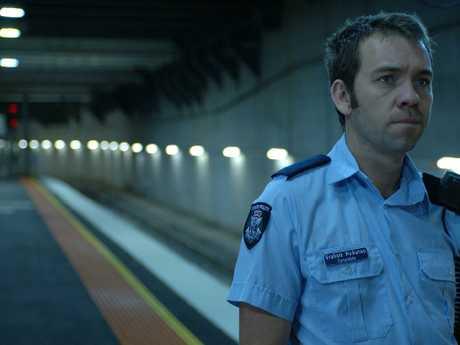 Actor Brendan Cowell a sa policeman in 'Noise'.