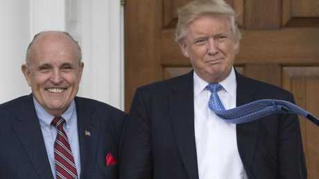 Donald Trump's new lawyer Rudy Giuliani said the US President repaid $130,000 to his personal lawyer Michael Cohen for payment to Stormy Daniels, contradicting the president's past comments on the controversy. Picture: AFP / Don Emmert.