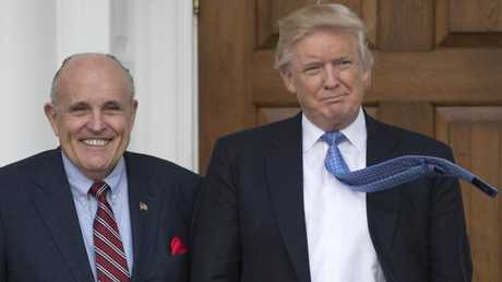 Rudy Giuliani said the President repaid $130,000 to Mr Cohen for payment to Stormy Daniels so she would keep quiet about an alleged affair with Mr Trump during the early years of his marriage to Melania. Picture: AFP / Don Emmert.