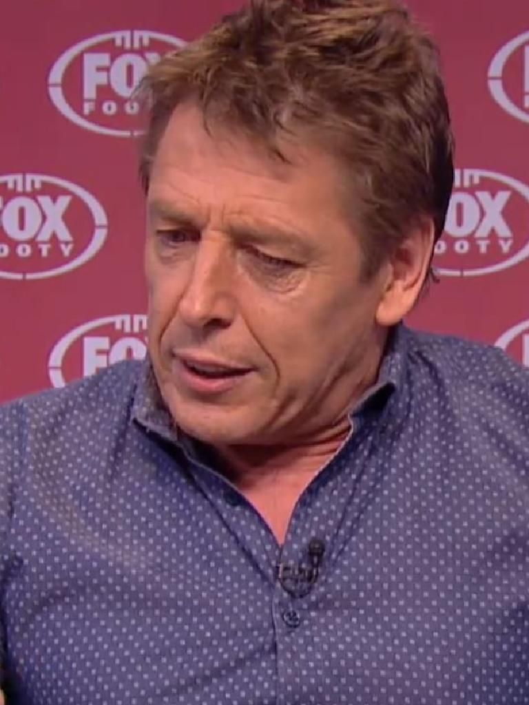Thompson during another unpredictable episode of the Bomber Diaries on Fox Footy.