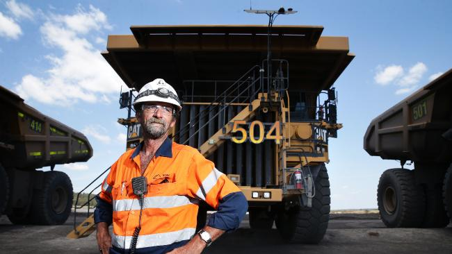 Alan Brown, grazier and miner, at New Acland Coal Mine. Picture: Claudia Baxter