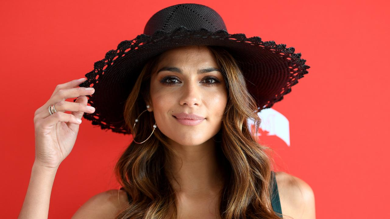 Pia Miller at Melbourne Cup Day at Flemington Racecourse. Picture: AAP Image/Dan Himbrechts