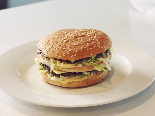 Daniel Whyte's version of the Big Mac looks pretty similar to the real deal. Source:Facebook