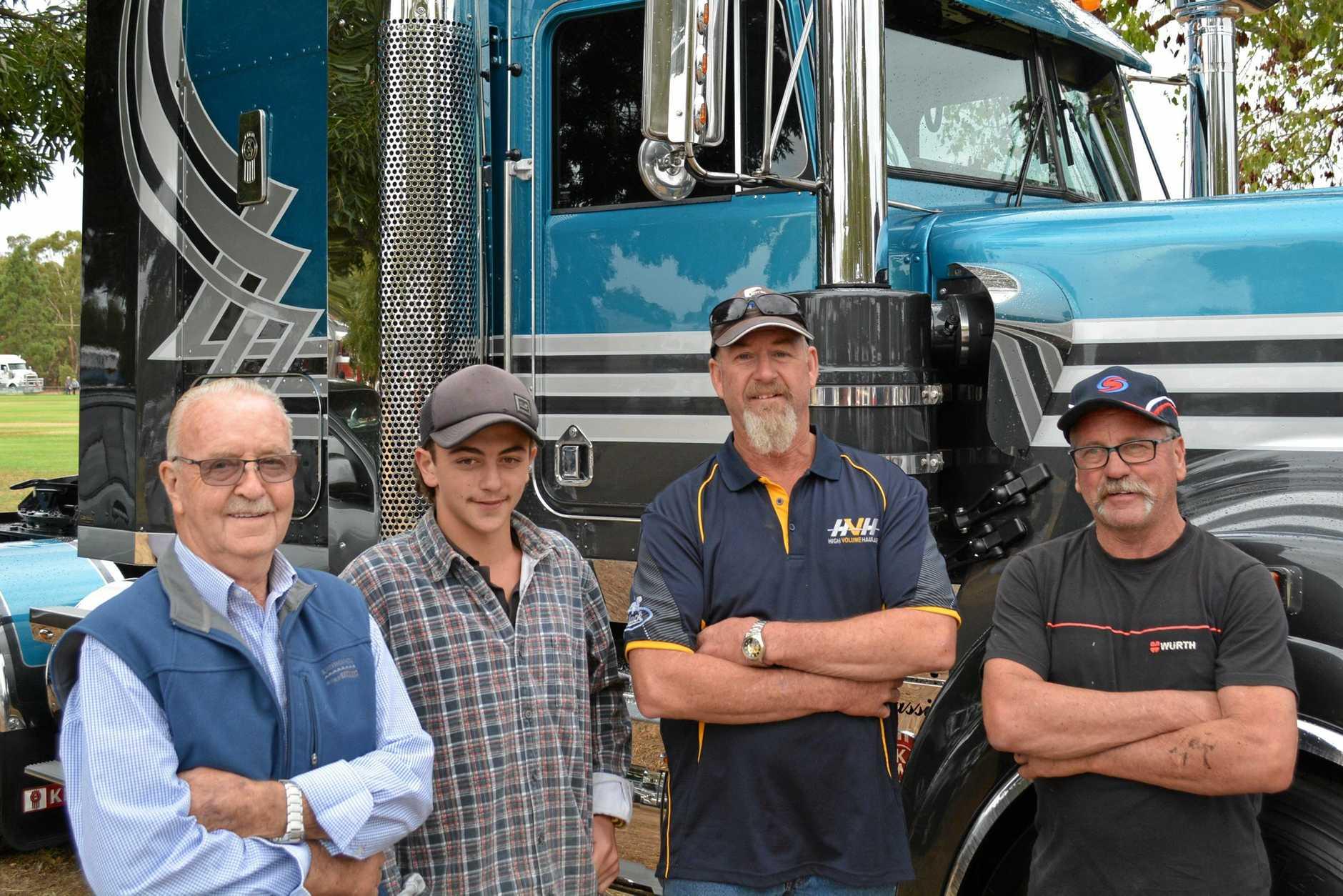 The Cobram crew (from left) Graham Dickson, Kobey Dickson, Neil Hort and Barry Dickson.