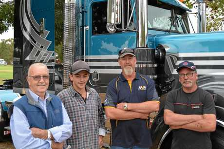 The Cobram crew (from left) Graham Dickson, Kobey Dickson, Neil Hort and Barry Dickson.