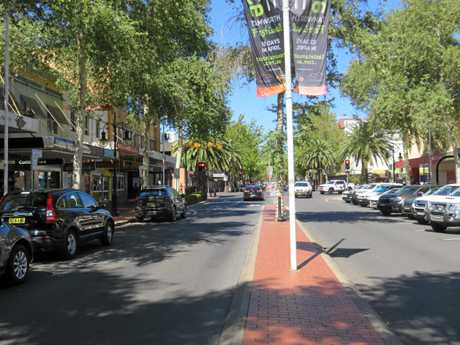 INSPIRATION: A view of Tamworth's Peel St, where a feeling of spaciousness has been created despite it being 10m narrower than Prince St.