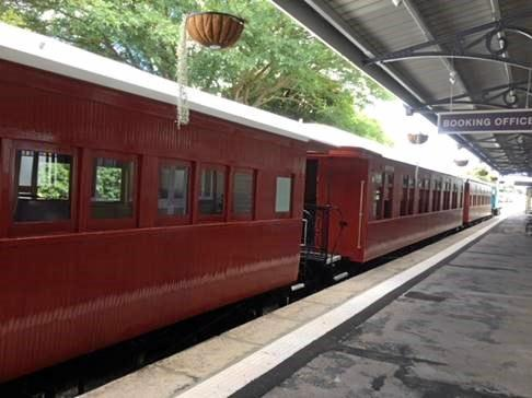 Restored Rattler carriages.