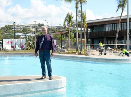 Mayor Bill Ludwig at theh Yeppoon lagoon.