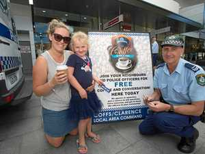 Police invite locals to have a coffee and a chat