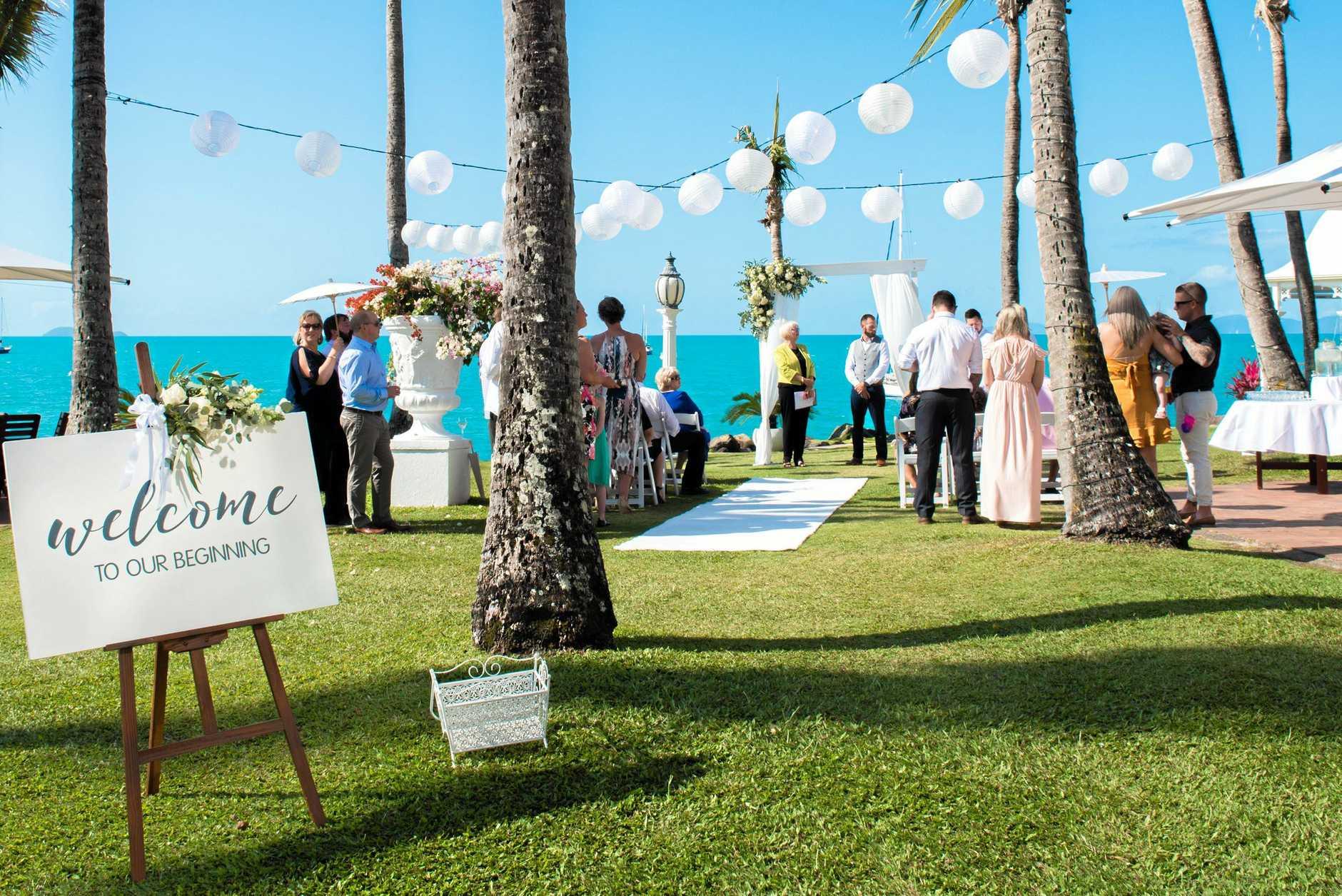 A unique Whitsunday wedding.