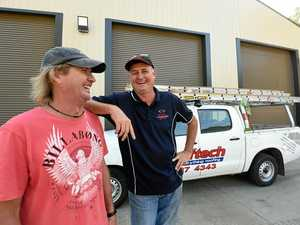 Tradies pitch in to help Men's Shed