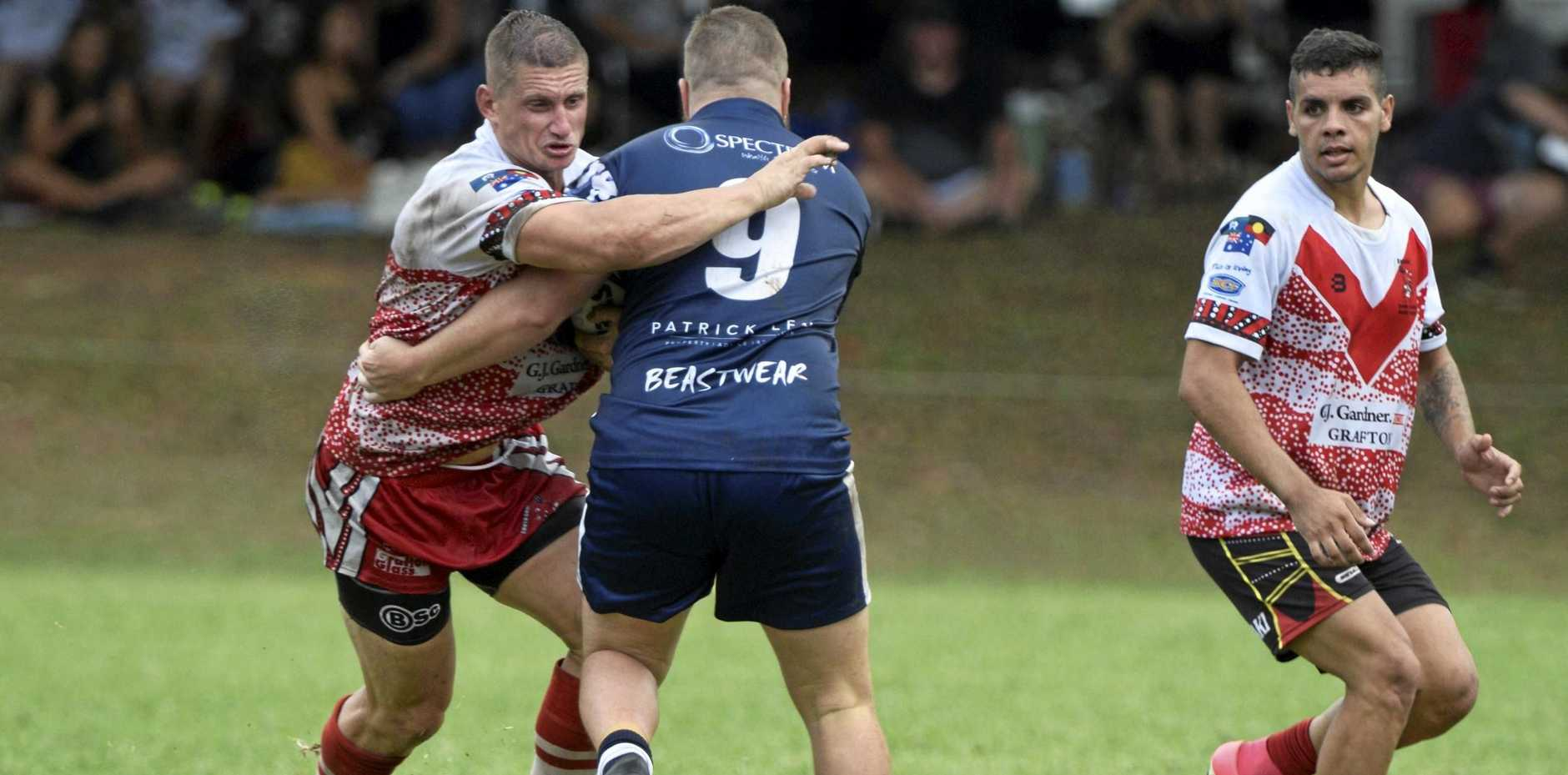 HEAVY ARTILLERY: South Grafton Rebels captain Karl Woodley will welcome extra support in the forward pack for the side's clash with Sawtell Panthers tomorrow.