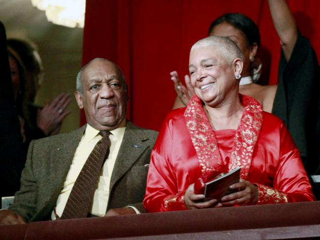 The couple in 2009 after Bill Cosby received the Mark Twain Prize for American Humour in Washington. Picture: AP/Jacquelyn Martin
