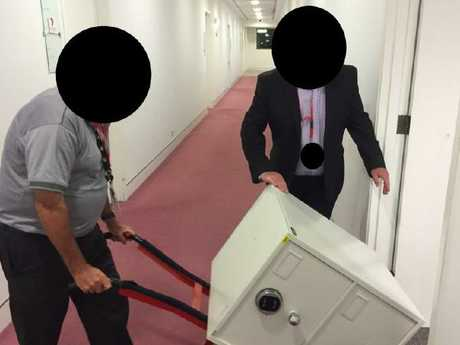 """ASIO secures the infamous """"cabinet files"""" at ABC offices in Canberra and Brisbane. Picture: ABC News"""