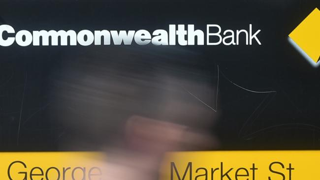 A Commonwealth Bank branch in Sydney. Picture: Peter Parks/AFP