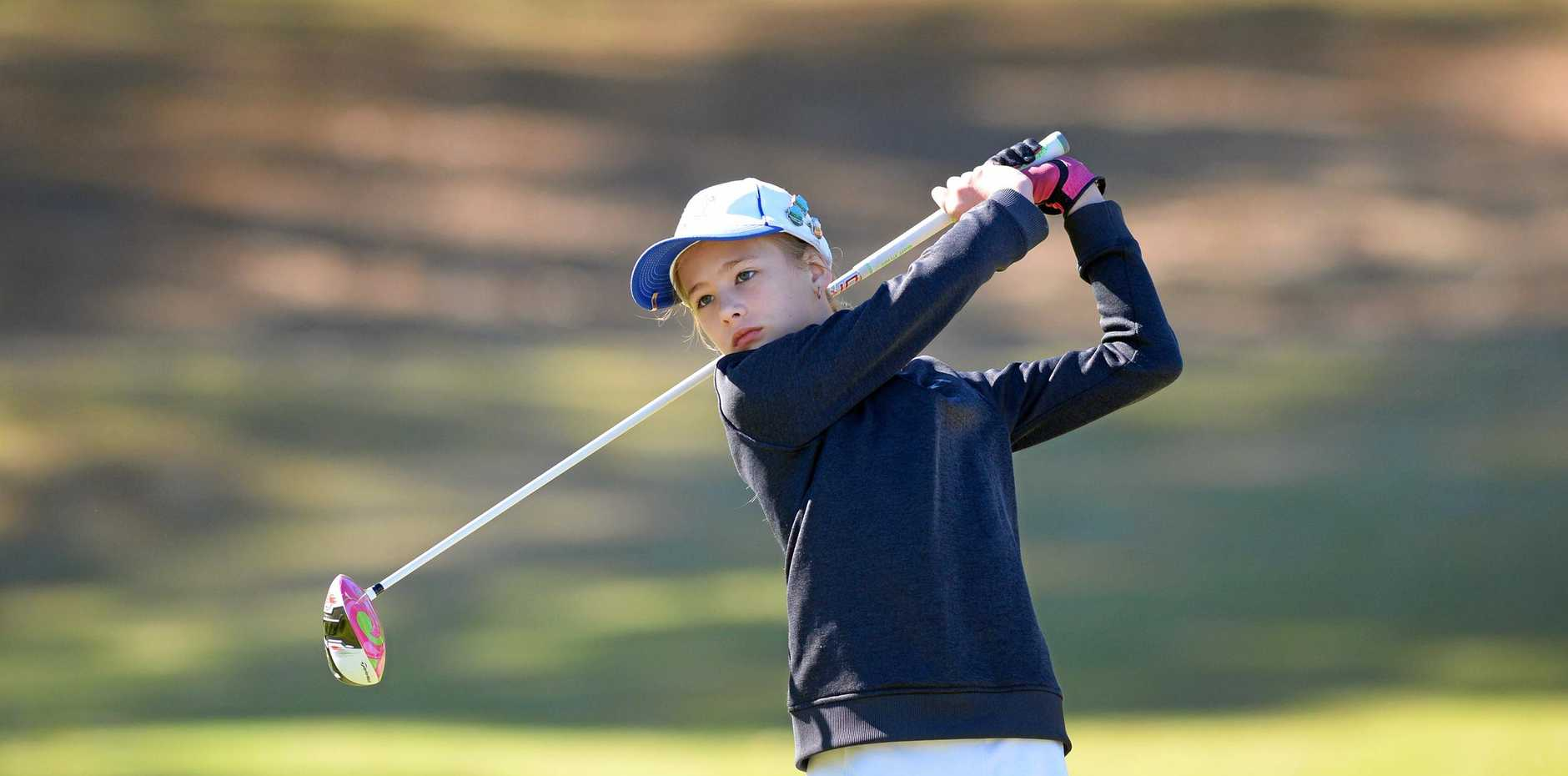 RISING STAR: Talented young golfer Aliana Manderson will tee off for Australia in the Trans-Tasman Cup.