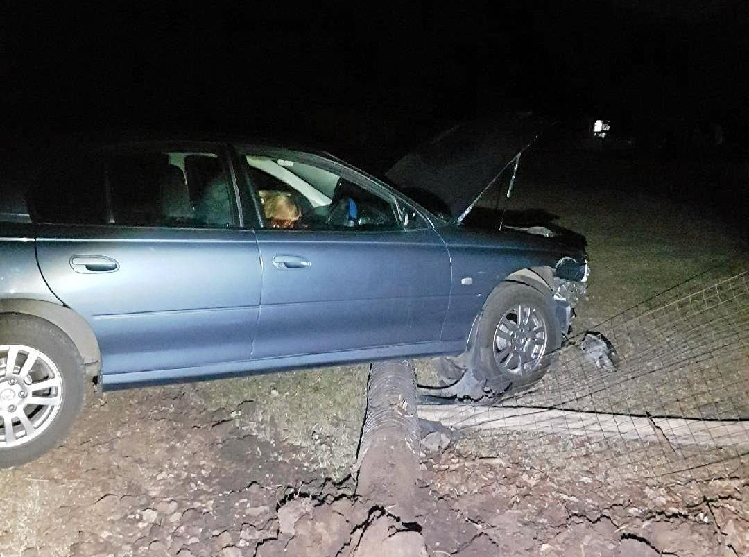 CHARGED: A man allegedly crashed into a fence post while drink driving at Allora on Monday night.