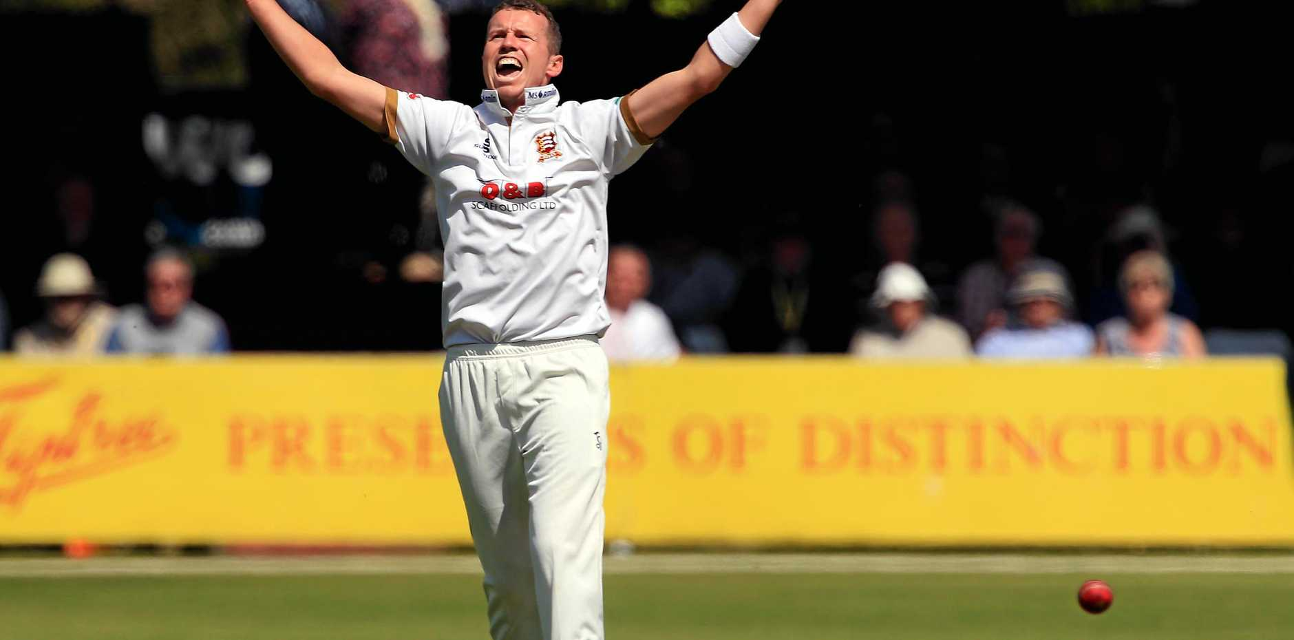 Peter Siddle celebrates a wicket on day one of County Championship match between Essex and Yorkshire in Chelmsford, England. Picture: Stephen Pond/Getty Images