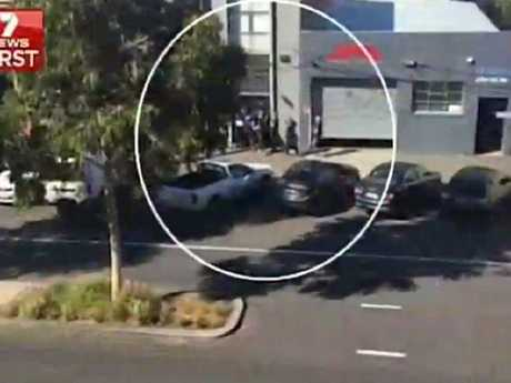 Police raid the property of Mark Thompson.
