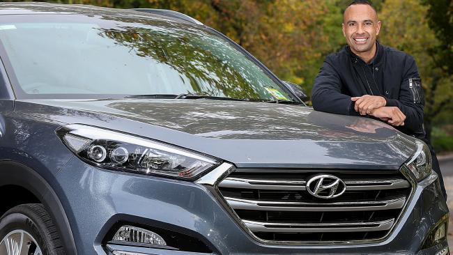 Former Socceroo Archie Thompson and his Hyundai Tucson