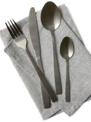 Kmart 16-piece Black Cutlery Set
