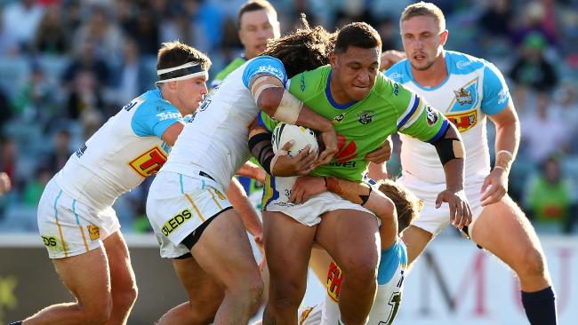 The Raiders have beaten the Titans 32-18 in Canberra. Picture: Mark Nolan/Getty Images