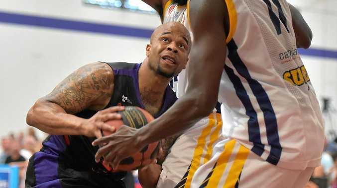 Sunshine Coast Phoenix take on Gladstone Port City Power at the Maroochydore Basketball Stadium.Phoenix player Roy Booker on the attack.