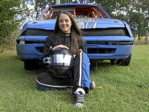 Rising female star of the Speedway track
