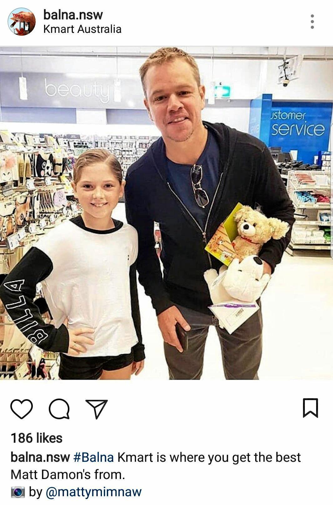 Matt Damon spotted in Kmart, Ballina.