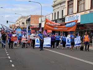 Hundreds take to M'boro streets in Labour Day march