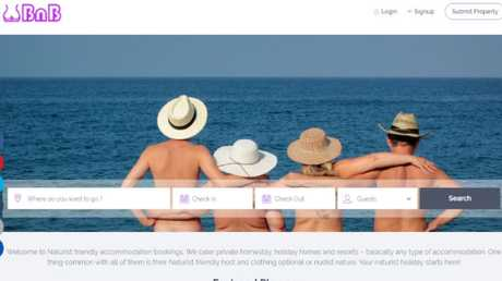 NaturistBnB lets you book a nude-friendly holiday at destinations all around the world. Picture: NaturistBnB