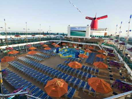 The Carnival Dream cruise ship in happier times. Picture: