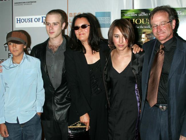 Robin with former wife Marsha and kids Cody, Zac and Zelda.